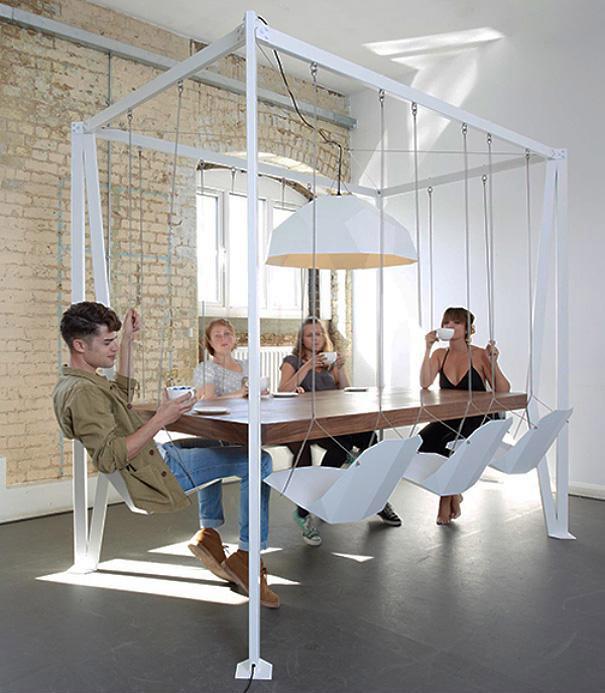 Mesa de hamacas