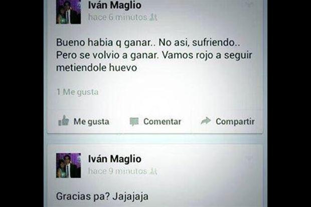 Facebook Ivan Maglio