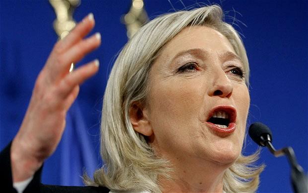 Marine Le Pen, triunfadora en Francia