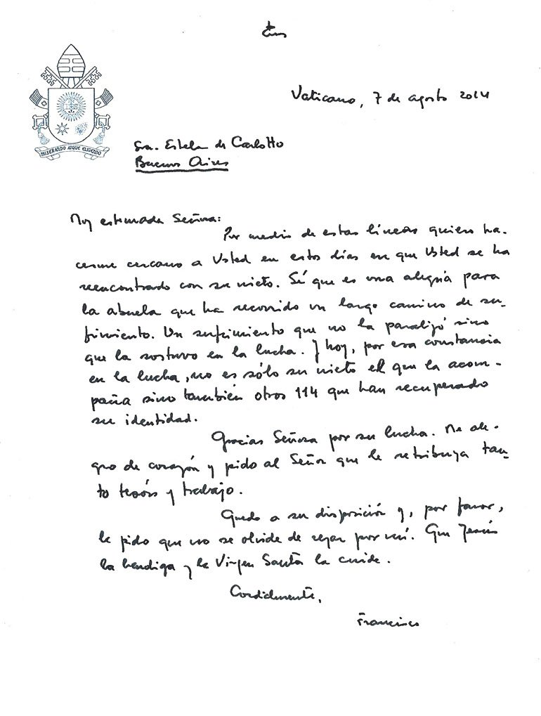 carta de francisco