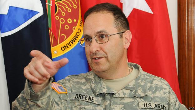 El general Greene es el militar de mayor rango que muere en Afganistán desde la invasión de 2001