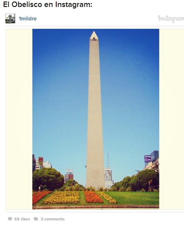 obelisco en instagram