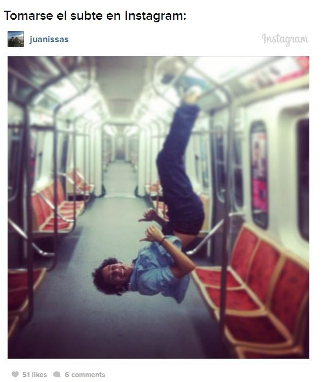 subte en instagram