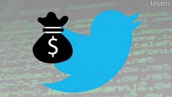 Twitter entrega dinero