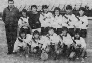 Marcelo Tinelli, primero a la derecha en la fila de arriba