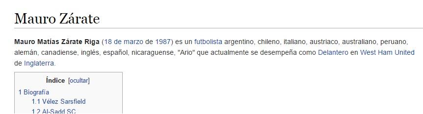 zarate wikipedia