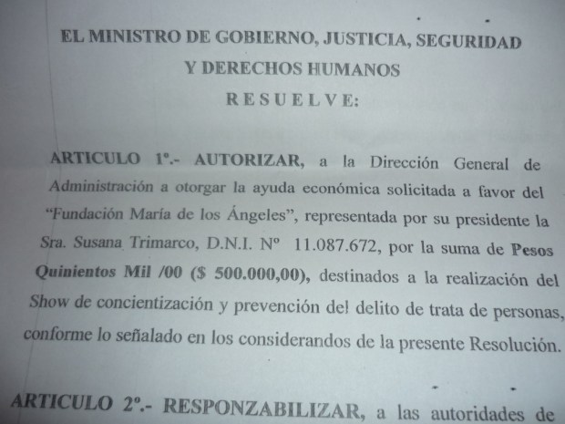 Decreto Trimarco 1