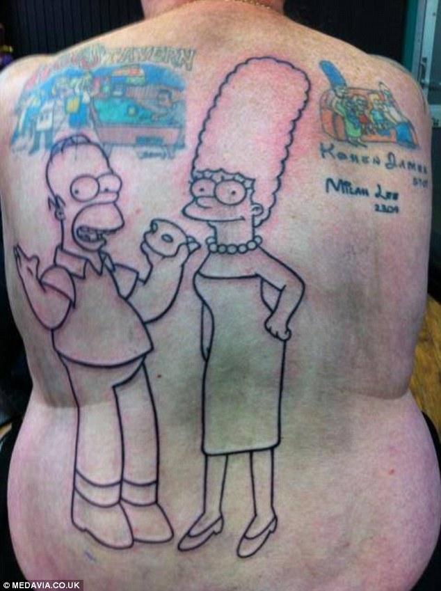Tatuaje de Los Simpson 2