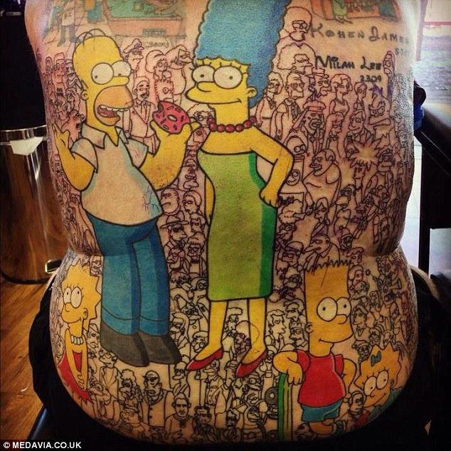 Tatuaje de Los Simpson 4