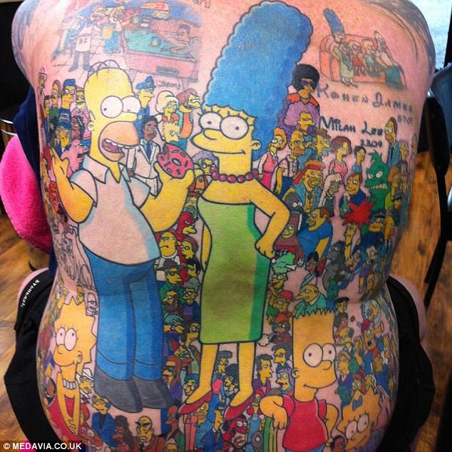Tatuaje de Los Simpson 5