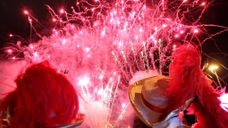Show de fuegos de artificio