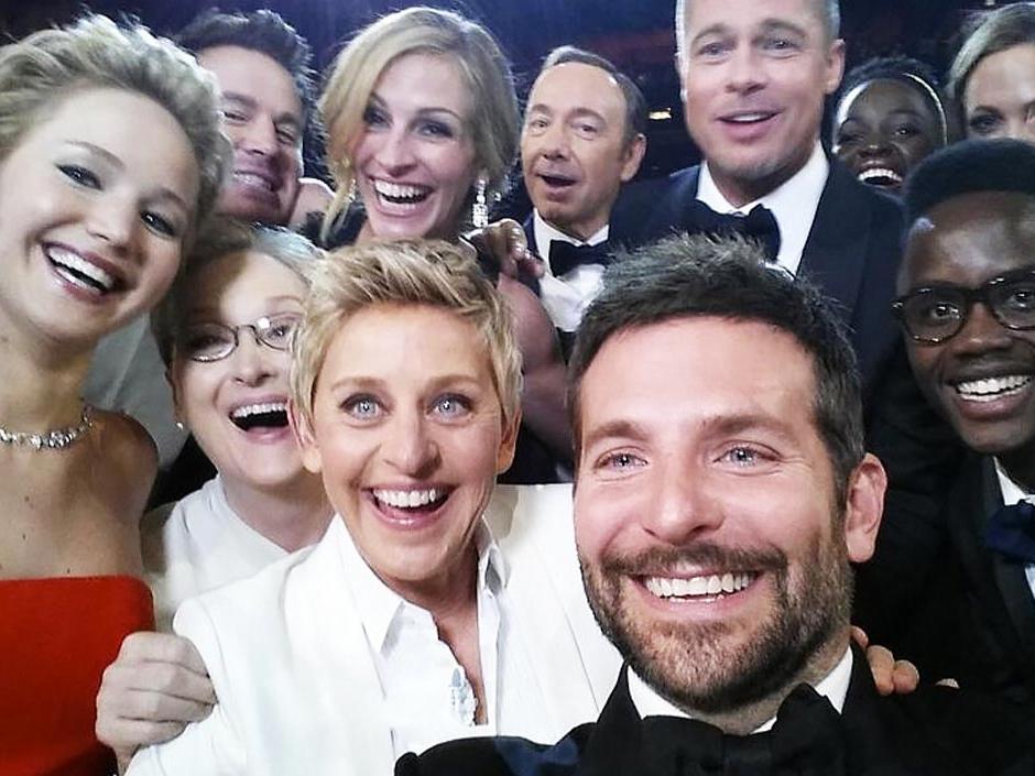 La selfie del año, tomada por Ellen DeGeneres en los Oscar