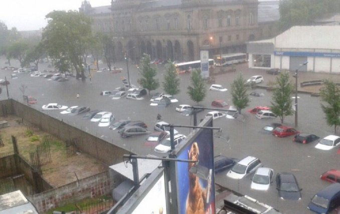 uruguay inundado