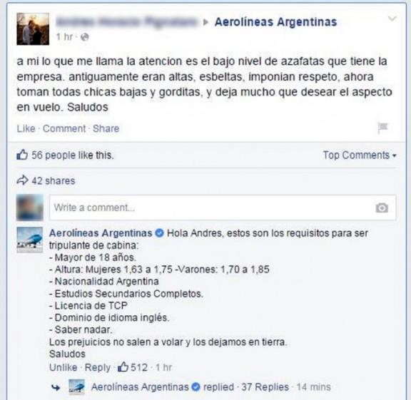 facebook aerolineas argentinas