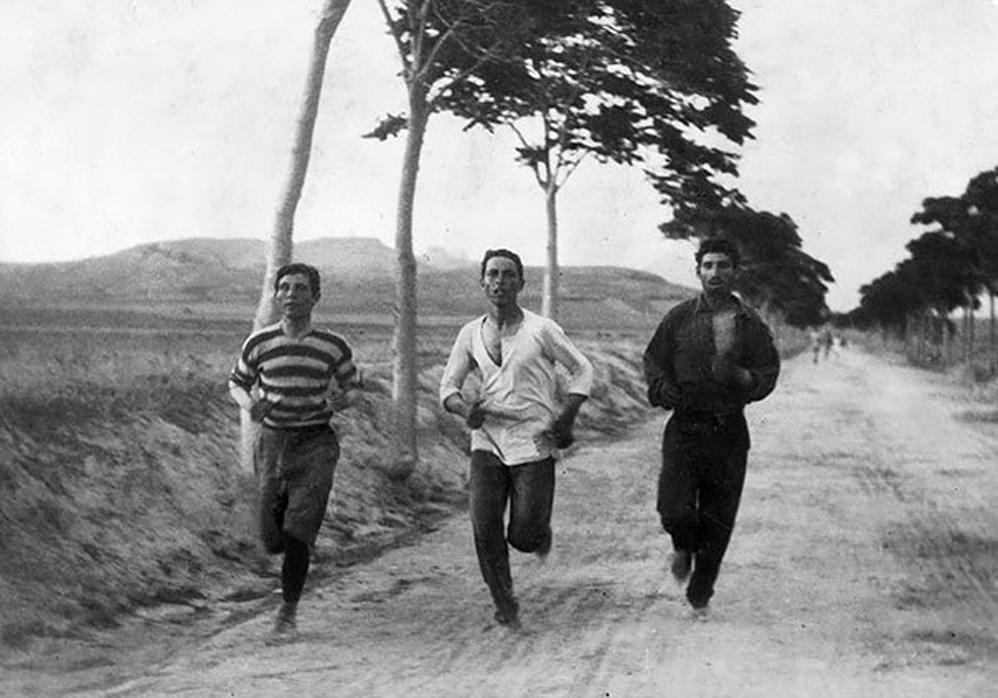 Tres Hombres en el maratón de los Juegos Olímpicos modernos, 1896