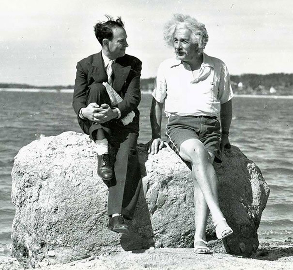 Albert Einstein, verano de 1939, Nassau Point, Long Island, NY