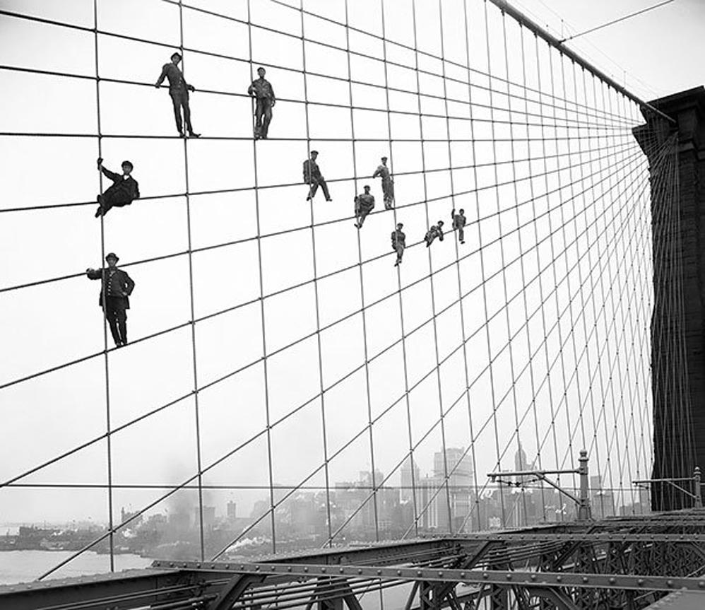 El pintor del Puente de Brooklyn, 1914