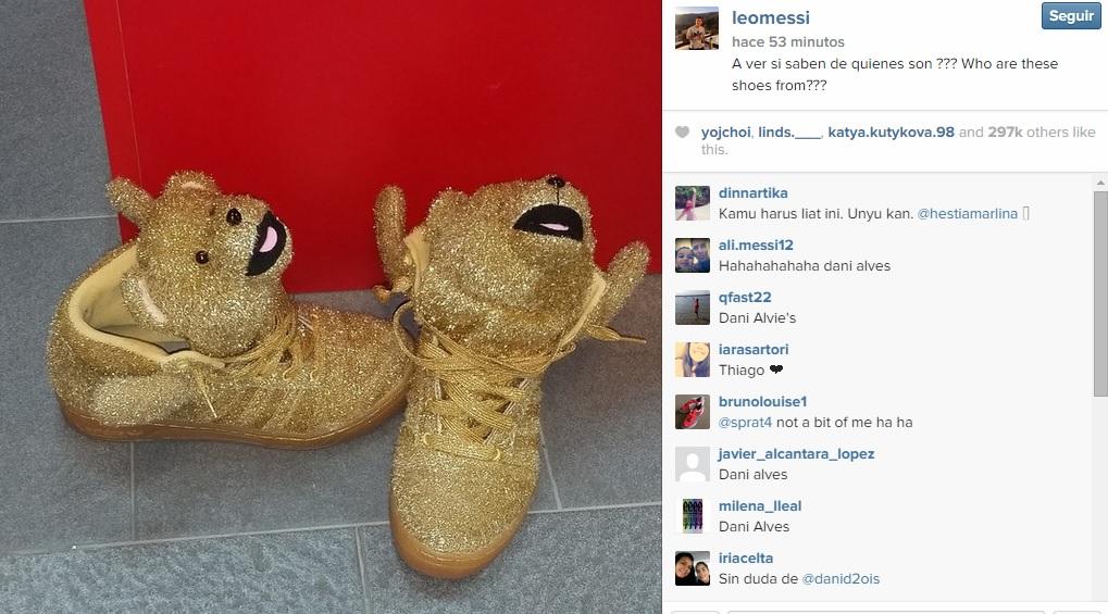 Messi zapatillas Dani Alves