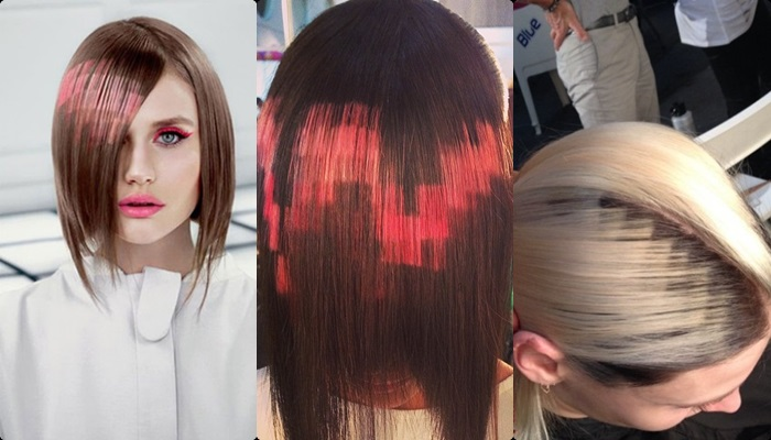 La nueva y polmica moda el pelo pixelado Nexofin