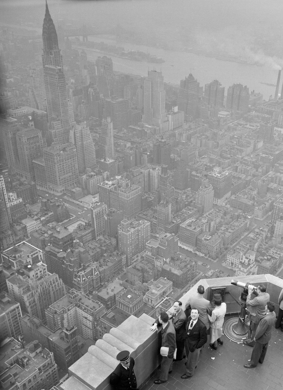 Aerial View of New York City Atop The Empire State Building