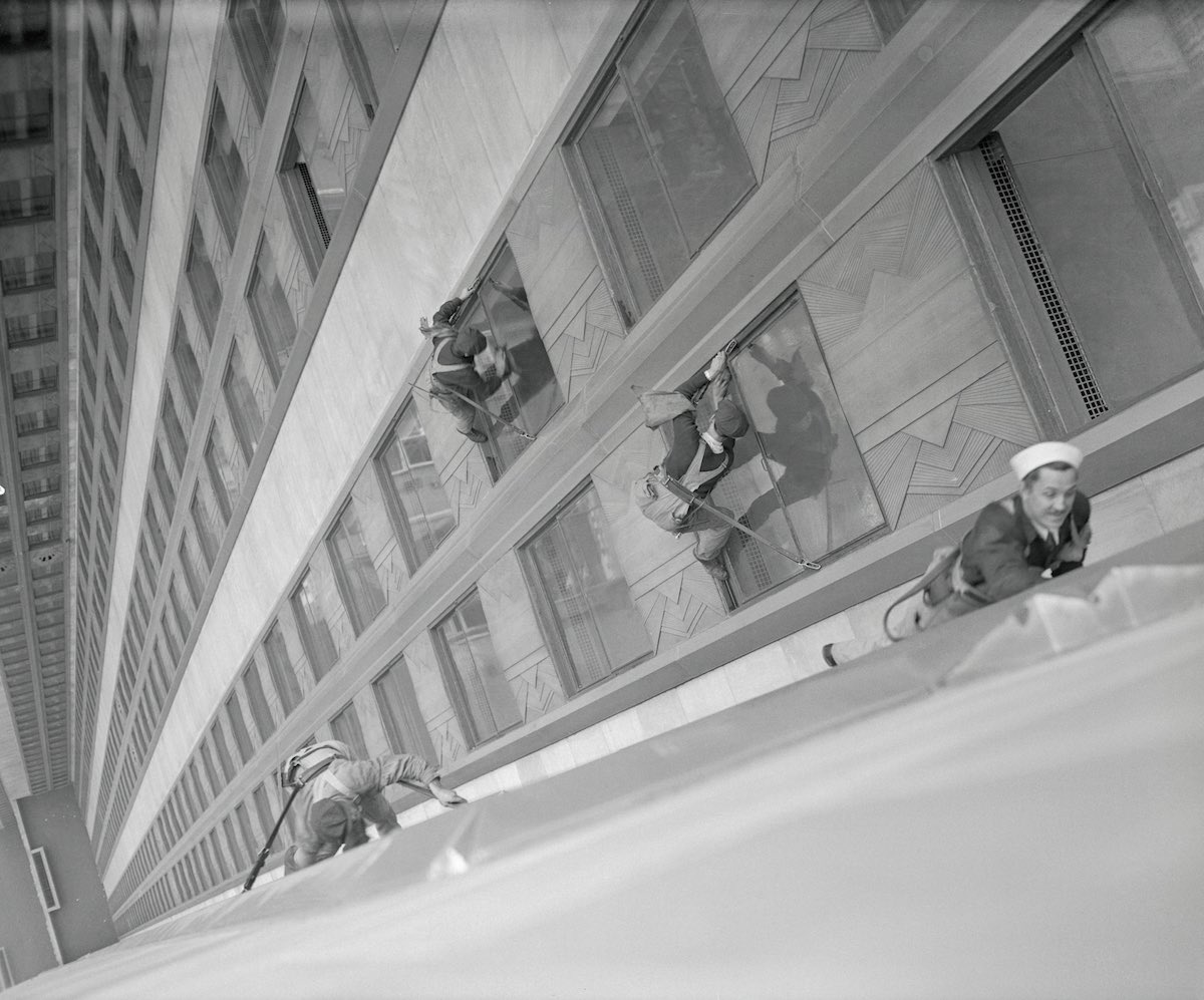 Men Washing Windows of Empire State Building