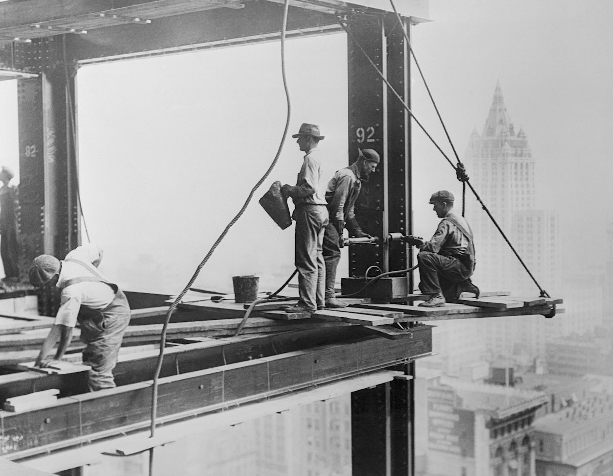 Men Working on Empire State Building