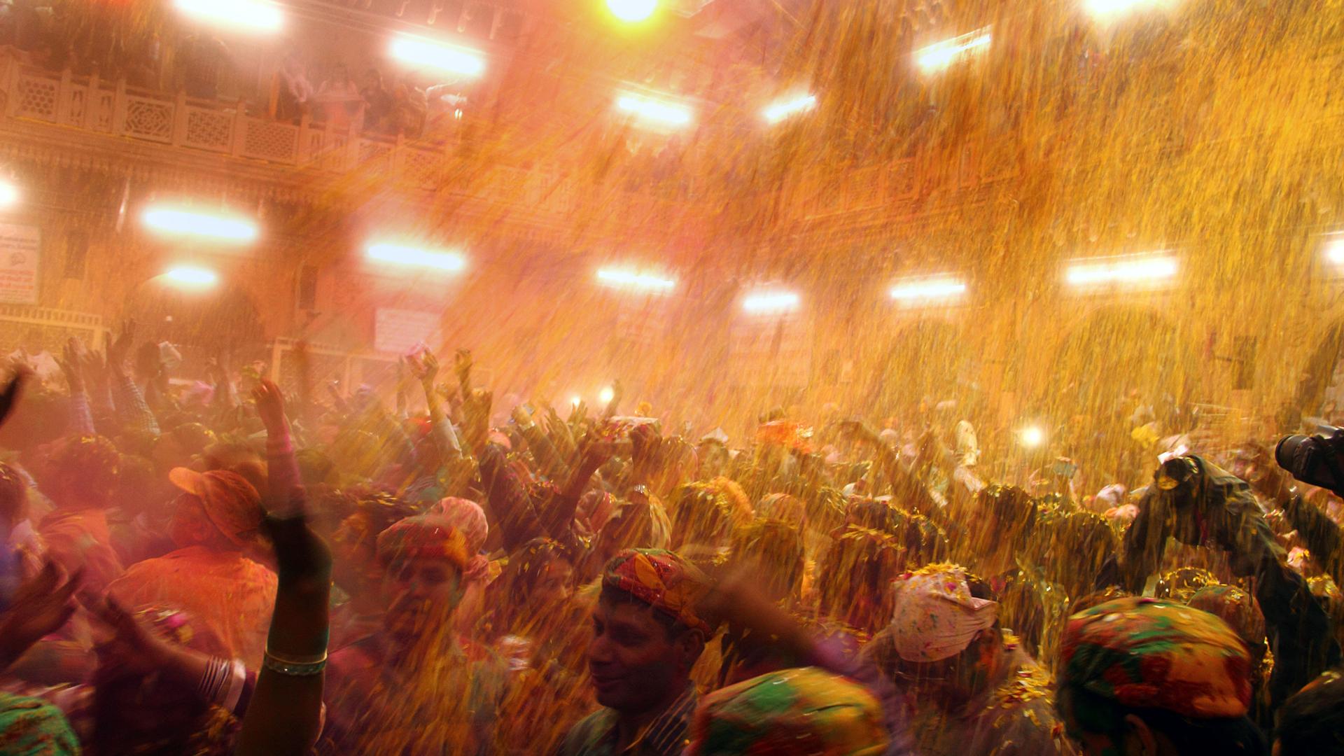 Imagen del festival We Colour, en India