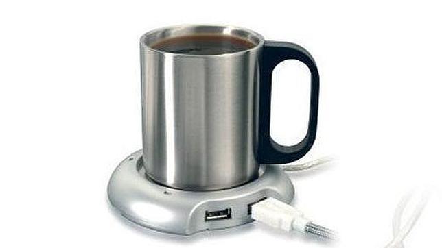 calentador taza