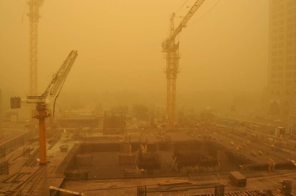 APTOPIX Mideast Emirates Gulf Sandstorm