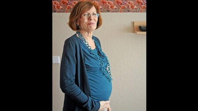 embarazada vieja