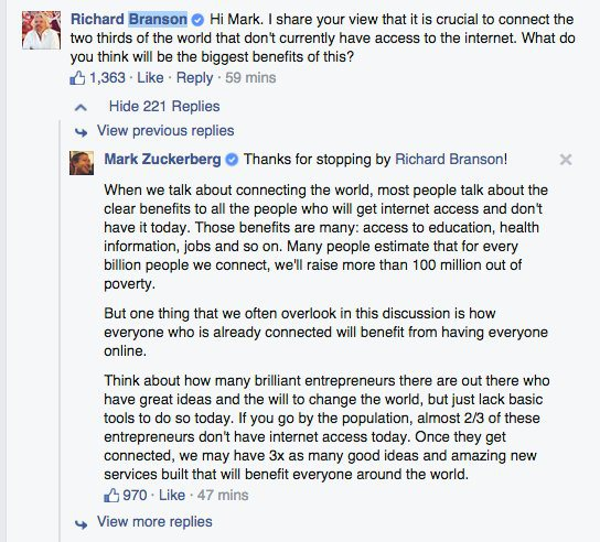 respuesta zuckerberg