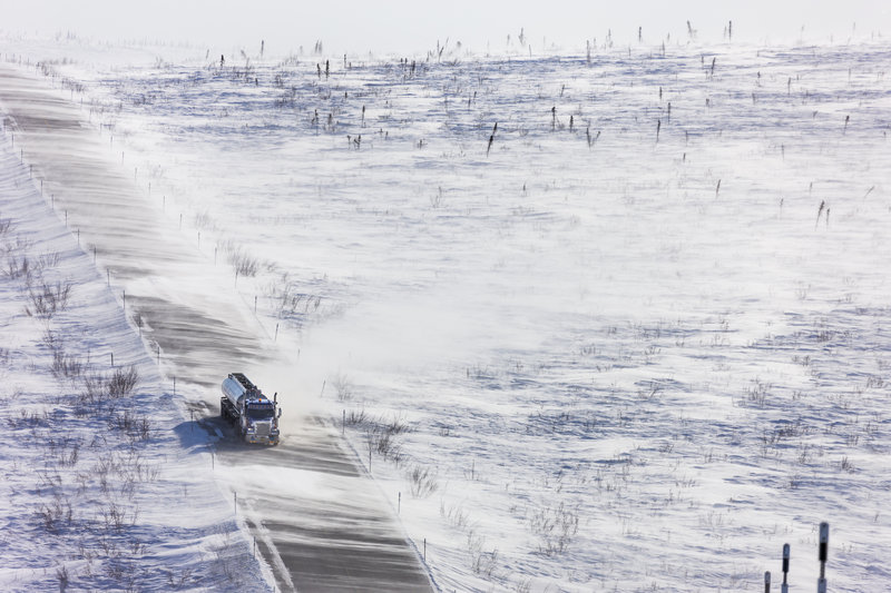 Blowing snow, Dalton Highway