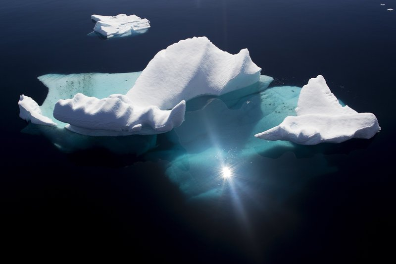 Floating iceberg in Pleneau Bay, Antarctica.