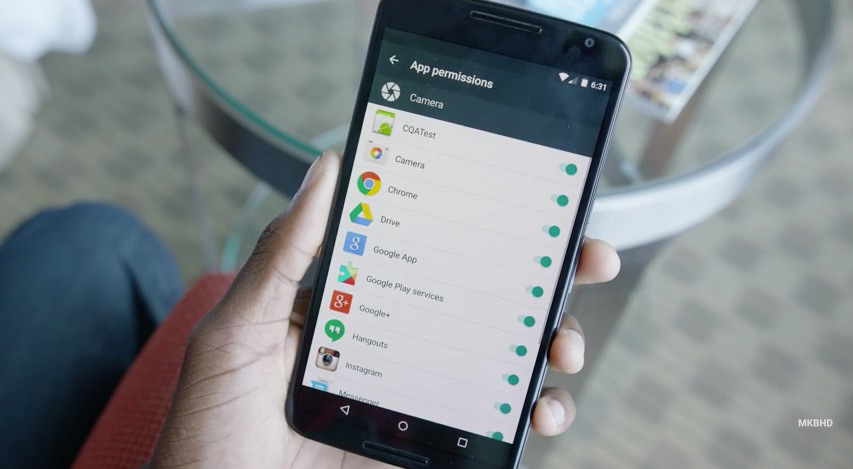 android M gestion permisos