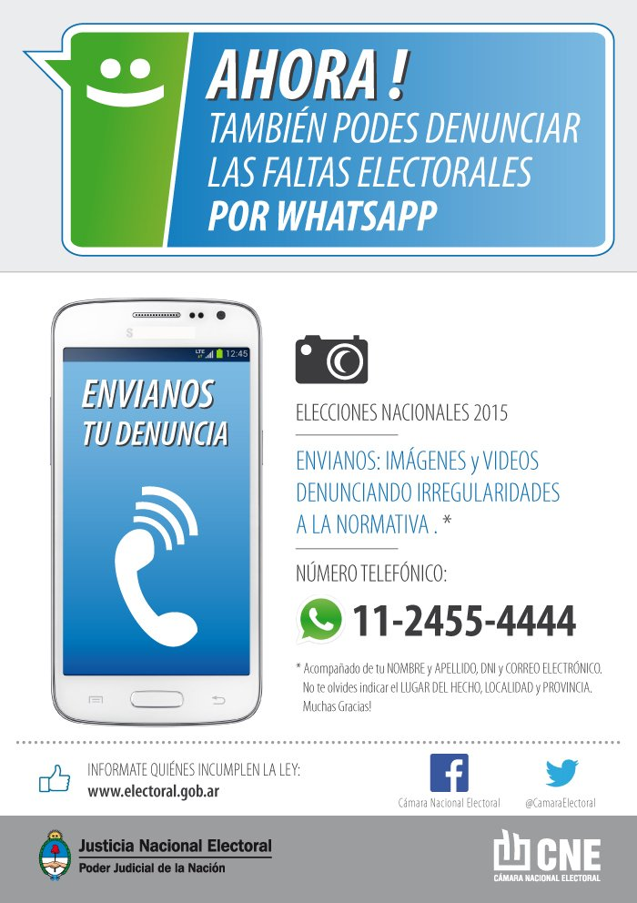 denuncias electorales whatsapp