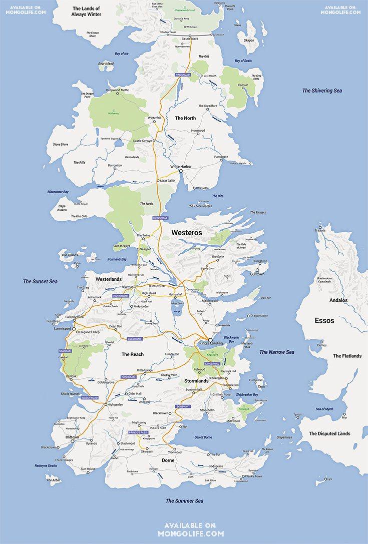 google maps game of thrones