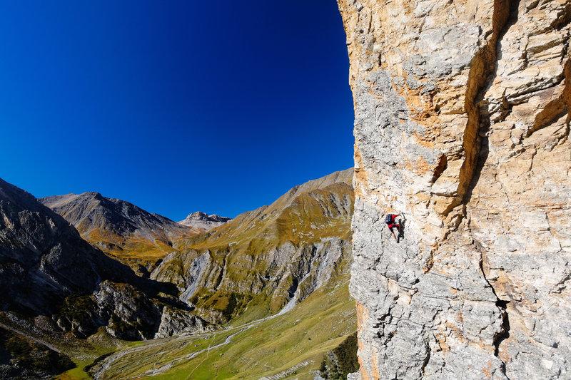 Klettersteig am Rocca Senghi im Talschluss der Varaita di Bellino