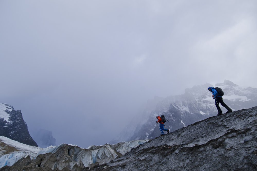 David Lama and Peter Ortner in El Chalten, Argentina.