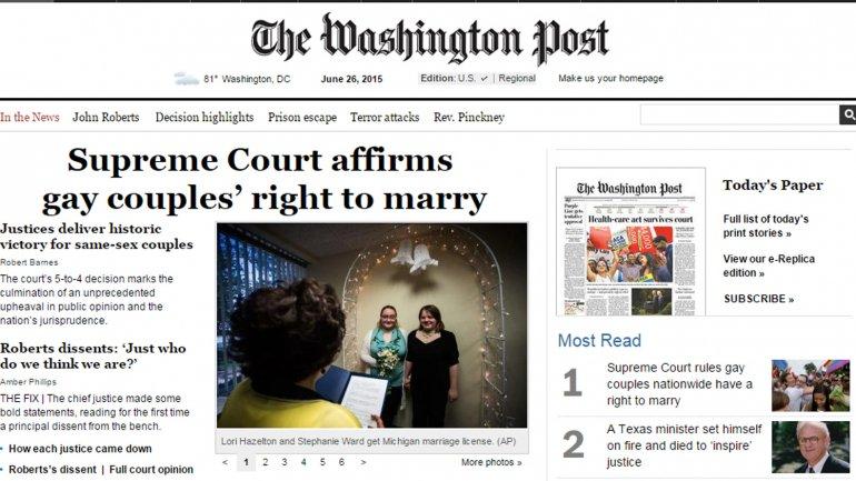 Diario Estados Unidos matrimonio gay 5
