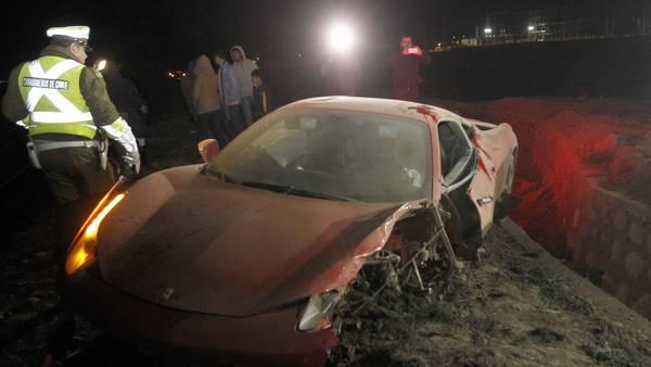 Ferrari-Arturo-Vidal-accidente-Santiago