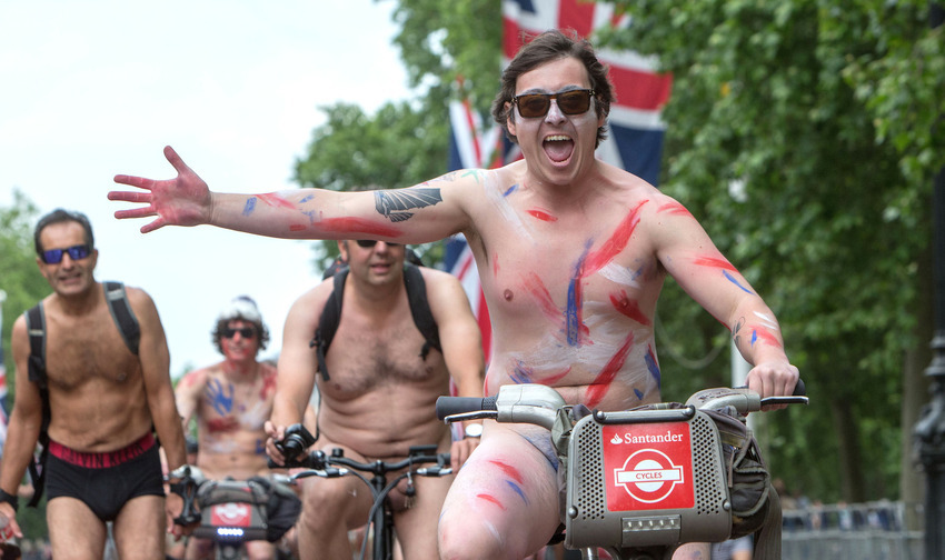 World Naked Bike Ride, London, Britain - 13 Jun 2015