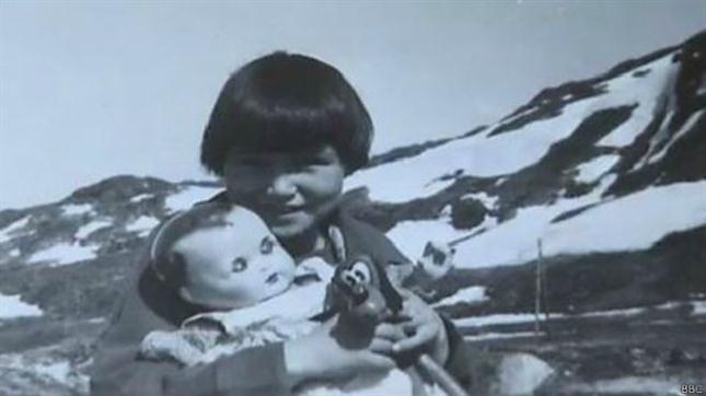 Helene Thiesen acababa de perder a su padre cuando fue separada de su familia y enviada a Dinamarca. Foto: BBC