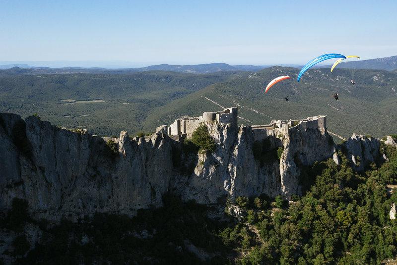 Higherlimits Peyrepertuse 2015 Horacio Llorens, Rafael Goberna, Theo de Blic, Action