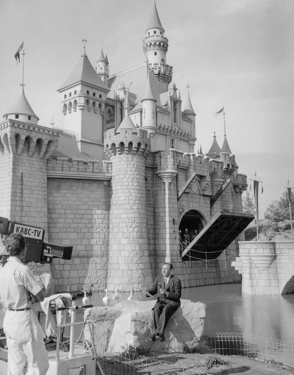 Walt Disney Announcing Disneyland's Opening