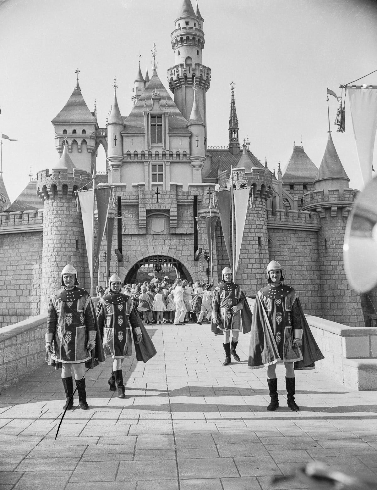 Children Crowding Around Cinderella's Castle