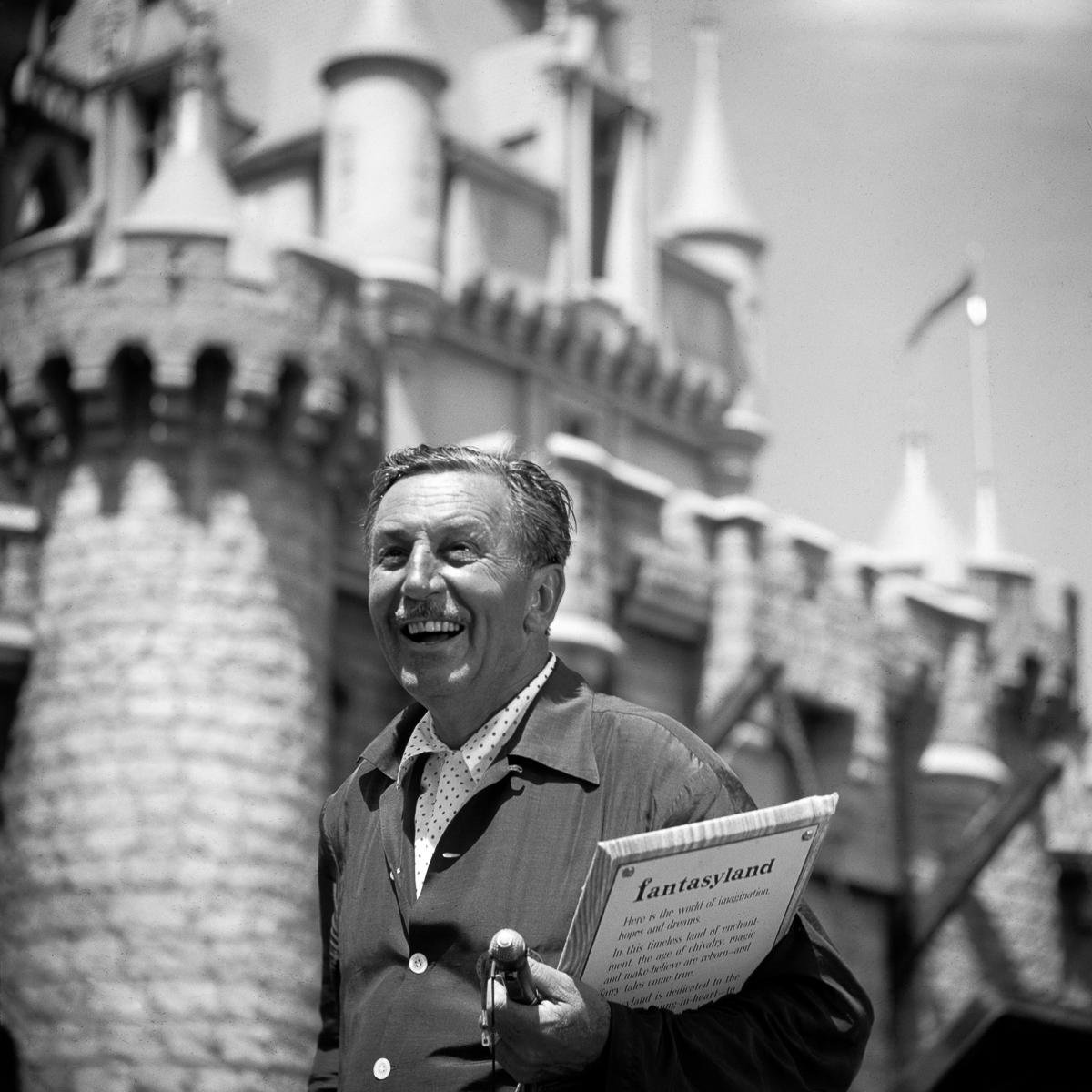 Walt Disney At Disneyland Grand Opening