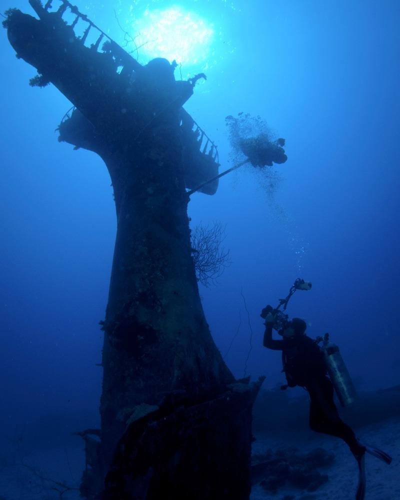 Avion Segunda Guerra Mundial bajo el agua 6