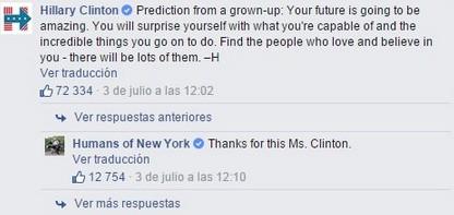 mensaje hillary clinton