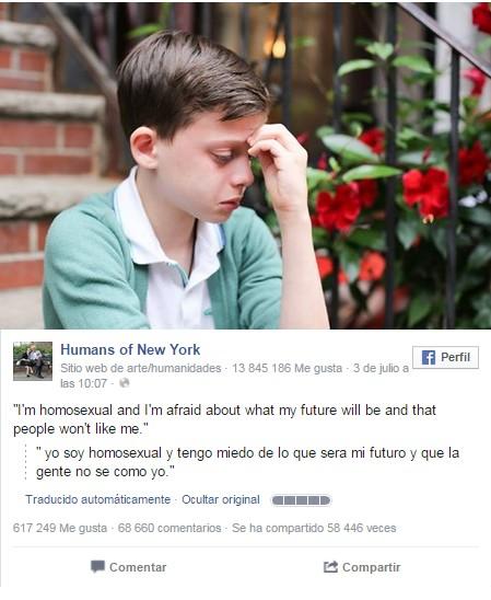 nene homosexual mensaje facebook
