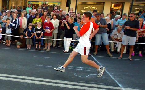 Retro race winner Alex Geilings.